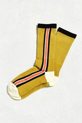 Urban Outfitters Vertical Stripe Sport Sock Red