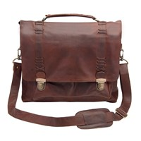 Mahi Leather Classic Satchel Messenger Bag With 15 Laptop Capacity In Vintage Brown