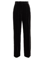 Fendi Wide Leg Velvet Trousers Black