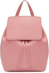 Mansur Gavriel Pink Leather Mini Backpack