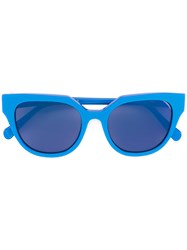 Retrosuperfuture Round Shaped Sunglasses Women Acetate One Size Blue