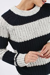 Boutique Slouchy Ribbed Stripe Jumper By Grey