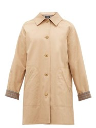 A.P.C. India Cotton Gabardine Overcoat Beige
