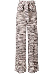 Missoni Flared Knitted Trousers White