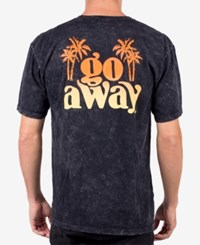 Neff Men's Go Away Marbled Graphic T Shirt Black