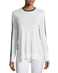 Rag And Bone Verity Two Tone Cashmere Pullover Sweater Ivory