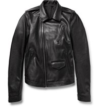 Rick Owens Stooges Full Grain Leather Jacket Black