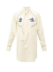 Toga Western Embroidered Blouse Ivory