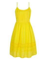 Yumi Cotton Crochet Summer Dress Yellow