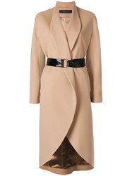 Federica Tosi Belted Coat Nude And Neutrals