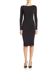 Anne Klein Ruched Sheath Dress Black