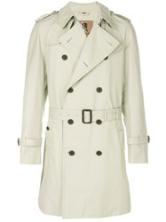 Sealup Trench Coat Cotton Polyamide Polyurethane Viscose White
