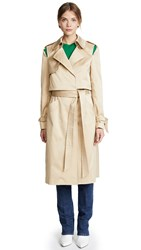 Milly Water Repellent Duchesse Trench Coat Khaki