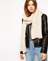 Asos Cable Scarf Oatmeal