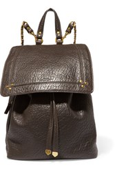 Jerome Dreyfuss Florent Textured Leather Backpack Dark Brown