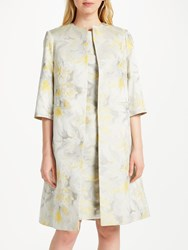 Bruce By Bruce Oldfield Jacquard Coat Yellow