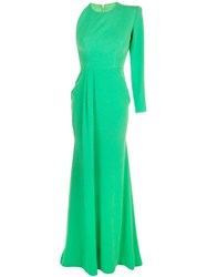 Alex Perry Structured Shoulders Dress Green
