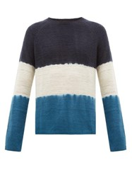 Denis Colomb Hand Dyed Cashmere Sweater Blue Multi