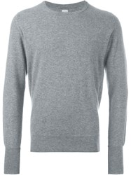 E. Tautz Cashmere Crew Neck Jumper Grey