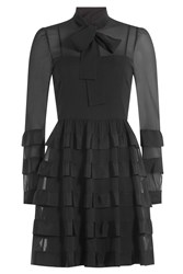 Red Valentino Tiered Dress Black