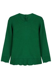 Vanessa Bruno Wool Pullover With Cashmere Green