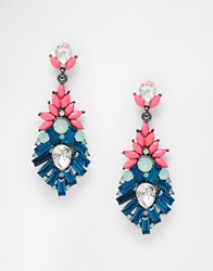 Johnny Loves Rosie Jasmin Statement Drop Earrings Multi