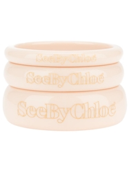 See By Chloe Stack Of Three Bangles Nude And Neutrals
