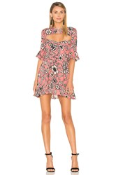 For Love And Lemons Ayla Laced Up Dress Pink