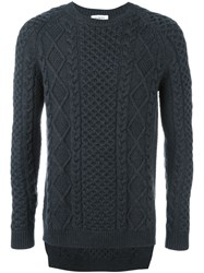 Ports 1961 Cable Knit Jumper Grey