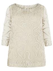 Windsmoor Cornelli Lace Tunic Top Oyster