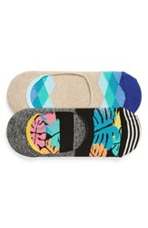 Happy Socks Jungle 2 Pack Liner Black