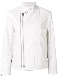 Zadig And Voltaire Fashion Show Biker Jacket White