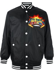 Ktz Embroidered Patch Bomber Jacket Black
