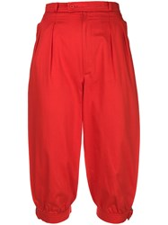 Yves Saint Laurent Vintage Cropped Trousers Red