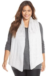 Tart 'Kya' Faux Fur Vest Plus Size Natural Grey