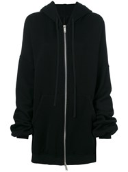 Unravel Project Hooded Zip Up Jacket Women Cotton S Black
