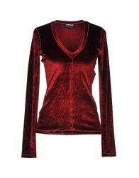 Tom Ford T Shirts Maroon