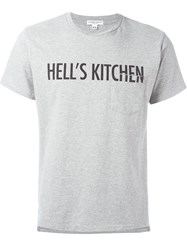 Engineered Garments Hell's Kitchen Print T Shirt Grey