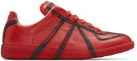 Maison Martin Margiela Red And Black Painted Lines Replica Sneakers