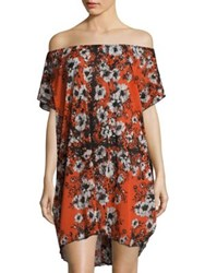 Jean Paul Gaultier Vintage Off The Shoulder Tunic Red Flame