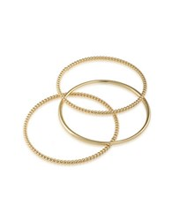 Lauren Ralph Lauren Perfect Pieces Twisted And Smooth Three Piece Bangles Gold