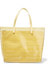 Red Valentino Redvalentino Printed Pvc And Canvas Tote Yellow