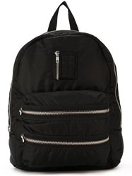 Joshua Sanders Zip Pocket Backpack Black