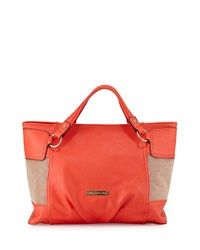 Catherine Catherine Malandrino Victoria Medium Faux Leather Tote Tangerine
