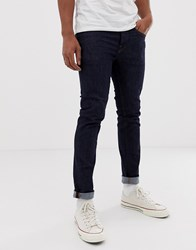 Selected Homme Skinny Fit Jeans In Dark Blue Wash