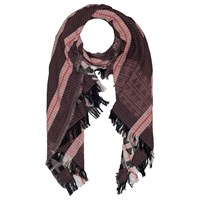 French Connection Dona Jacquard Scarf Monochrome