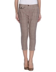 Fracomina Trousers 3 4 Length Trousers Women Beige