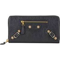 Giant Continental Zip Around Wallet Gris Fonce