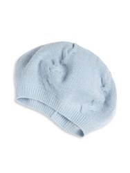 Portolano Cashmere Beret Light Heather Grey Baby Blue Black Light Nile Brow