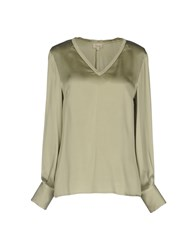 Her Shirt Blouses Military Green